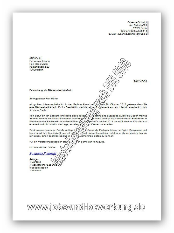 Bewerbungsanschreiben Vorlagen Und Muster 3